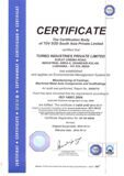 Certificate -Turbo Indusries Private Limited